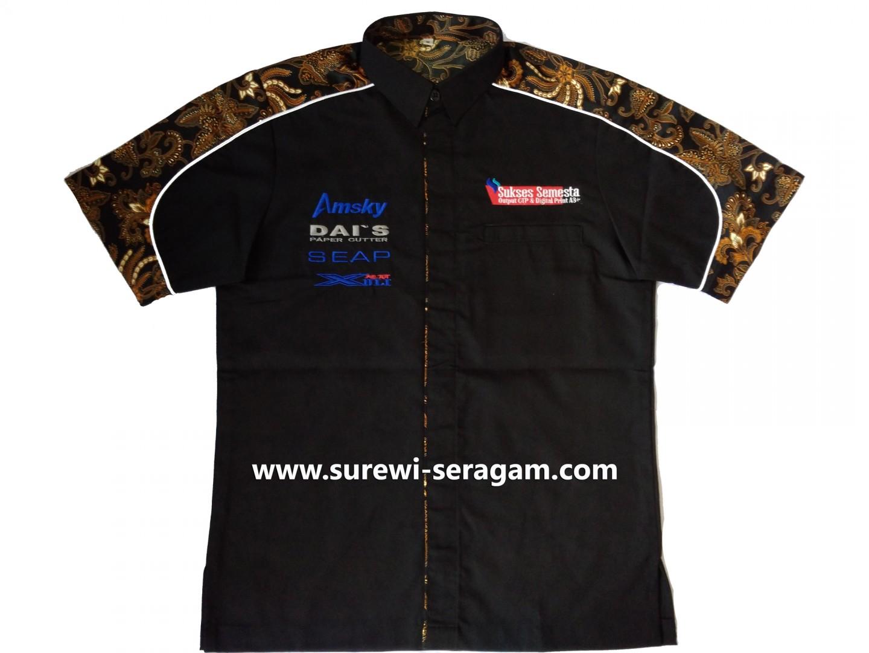 Kemeja Seragam Kombinasi Batik