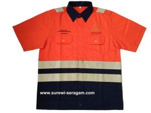 Baju Seragam Safety K3 untuk Keselamatan Kerja